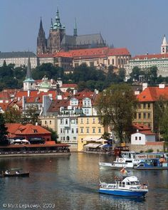 """Medieval Prague, Czech Republic via TOP 10 European Medieval Cities - Known as the """"Golden City of 100 Spires,"""" Prague boasts a fairy-tale medieval Old Town, historic churches and synagogues, and perhaps Europe's largest castle. A good way to introduce yourself to the city, its layered past, and its resilient people is with a walk across town, starting on lively, urban Wenceslas Square, weaving through the atmospheric Old Town, and ending at the picturesque Charles Bridge."""