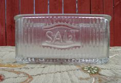 Hoosier Cabinet Vintage Salt Cellar late by TridentsTreasure, $55.00 -- I have one of these I found at Goodwill.