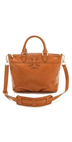 Tory Burch Stacked T Small Satchel | SHOPBOP