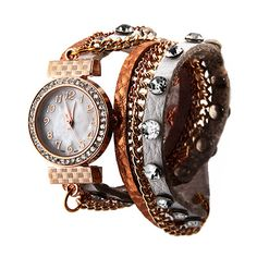 White and Rose Gold  Wrap Around Watch $36