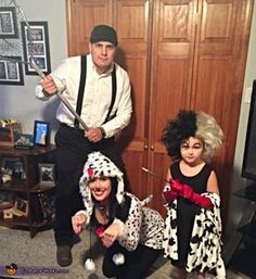 Amanda: The six year old in this photo is my daughter Jaelyn and she loves 101 Dalmations so much. She wanted to be cruella so I figured who else could we...
