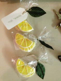 Lemon sugar cookies for a lemon themed bridal shower | littlebitesandlittledetails.com