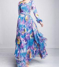 Long Sleeve Floral Dresses ideas (6)