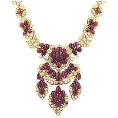 Rubies and Diamond Necklace. if i ever wore expensive jewelry this would be it...