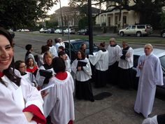 Lining up for the service #EDOLA15 #Episcopal