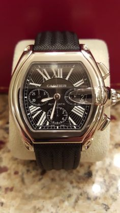 Cartier Roadster XL Chronograph Automatic Stainless Steel Bracelet & Strap Watch