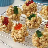 Peanut Butter Popcorn Poppers Holiday Baking for Kids: Peanut Butter Popcorn Poppers