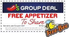 FREE Appetizer at Chili's! #pinupnetwork