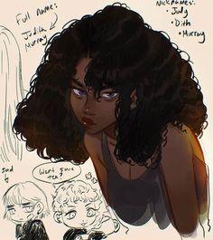 Black Cartoon Characters, Black Girl Cartoon, Black Girl Art, Black Women Art, Cartoon Art, Pretty Art, Cute Art, Animes Emo, Arte Black