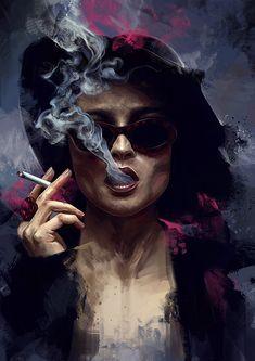 "Beautiful ""Marla Singer"" metal poster created by Dmitry Belov. Fight Club Marla, Arte Grunge, Marla Singer, Photo Vintage, Smoke Art, Art Pictures, Photos, Alternative Movie Posters, Movie Poster Art"