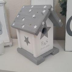 Vogelhaus im Shabby Look Sterne  Hochzeit von Holzallerliebst auf DaWanda.com