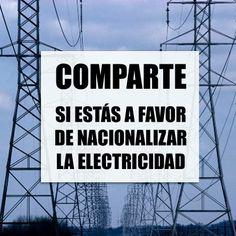 Nacionalizar la electricidad