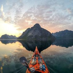 Are you planning any adventures this year? by @tfbergen #reinefjorden #reine #Lofoten Islands #Norway #adventure #seakayaking  #visitnorwayusa #visitnorway
