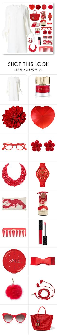 """""""White (and red)"""" by myenglishmood ❤ liked on Polyvore featuring TIBI, Smith & Cult, See Concept, Chanel, Humble Chic, Versus, Thomaspaul, Vince Camuto, Gucci and Wild & Wolf"""