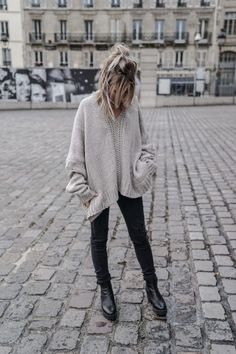 60 Fashionable Oversized Sweater for Winter Outfits