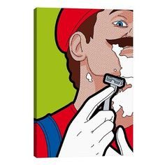 "Mario-Hair by Gregoire ""Leon"" Guillemin Graphic Art on Wrapped Canvas"