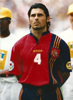 Rafael Alkorta antes del Inglaterra-España de la Eurocopa de 1996.