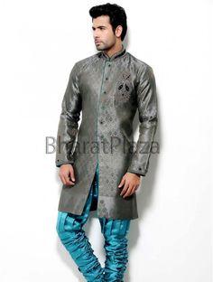 Indian Wedding Indo Western Designer Afghani Pakistani Traditional Sherwani #BharatPlaza #DesignerIndoWestern
