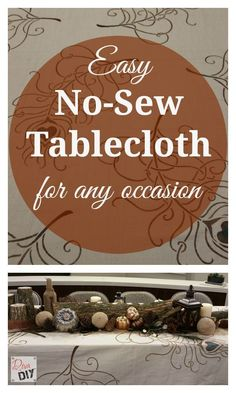 Make your own homemade tablecloth from a painter's drop cloth. Use a stencil to design your own holiday tablecloth! Great decoration for thanksgiving, Christmas, Fall, Easter or any holiday. Affordable Craft   No-Sew Tablecloth   DIY Table Decor