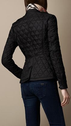 Fitted Diamond Quilt Jacket | Burberry