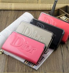 ♡DIOR Man Purse, Purse Wallet, Clutch Bag, Pu Leather, Leather Wallet, Candy Colors, Dior, Gucci, Womens Fashion