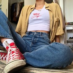 one or more people and shoesYou can find Stylish clothes and more on our website.one or more people and shoes Vintage Outfits, Retro Outfits, Grunge Outfits, Swag Outfits, Vintage Fashion, Aesthetic Fashion, Aesthetic Clothes, Look Fashion, Aesthetic Grunge
