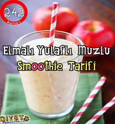 elmalı yulaflı smoothie # Food and Drink blenders Smoothie Recipes With Yogurt, Veggie Smoothies, Smoothie Recipes For Kids, Detox Recipes, Healthy Eating Tips, Healthy Breakfast Recipes, Easy Healthy Recipes, Healthy Drinks, Smoothie Detox