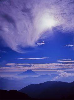 Mt. Fuji, Japan: photo by Mt. Fuji (but I'm going to pretend it's Olympus)