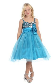 Sparkly Dress - Pin It :-) Follow Us :-))  azDresses.com is your  Dresses Product Gallery.  CLICK IMAGE TWICE for Pricing and Info :) SEE A LARGER SELECTION of sparkly dresses at http://azdresses.com/category/dress-categories/dresses-by-type/sparkly-dress/ - women, womens fashion, dress, womens dresses -Joy Kids girls Turquoise Sparkly Sequined Sweetheart Tulle Overlayed Girl Dress -Turquoise-8 « AZdresses.com