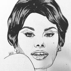 Sophia !!! #draw #picture #portrait #diva #mydraw #nawden #bouchac #creativepaper #loveit #artist #artofinstagram #artworks_artist #artofdrawing #dibujo #paper #ink #sexi #drawing #artworks #artisthelp #instadraw #instaart #art_collective #gallery #cine