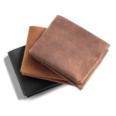 @parkerclay leather wallets for dad! Three different colors to choose from.   Discovered by bonjoy.squarespace.com