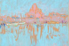 Ellen Thesleff: The Port of Helsinki image: HAM/Hanna Kukorelli Visit Helsinki, Visual Map, Travel Information, Tourism, Landscape, City, Illustration, Inspiration, Paintings