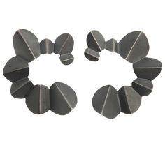 Norwegian jewelry design Nanga Parbat oxidized earrings by @kajagjedebodesign   www.kgd.no   #nangaparbat #earrings #papercuts #oxidized #mountains #papers&scissors  #timeless #minimalist #statement #contemporaryjewelry #modern #norskdesign #norwegiandesign #scandinaviandesign #origami #lovejapan #silver #jewelry #gold #bølerbling