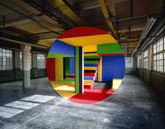 "The meticulous anamorphic art of Georges Rousse. See also: ""An Anamorphic Medusa… Art And Illustration, Graffiti, 3d Foto, Street Art, Perspective Art, Inspiration Art, No Photoshop, Land Art, Art Plastique"