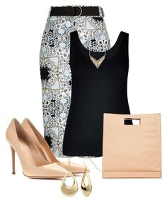 """""""Untitled #2421"""" by janicemckay ❤ liked on Polyvore featuring River Island, City Chic, Gianvito Rossi, Fremada, Melinda Maria, 3.1 Phillip Lim, women's clothing, women, female and woman"""