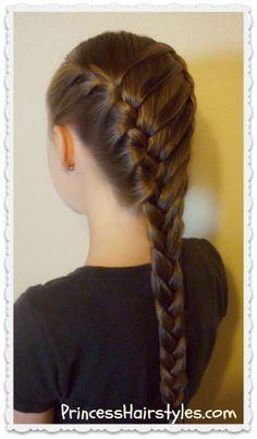 Waterfall twist ladder braid, back to school hairstyle