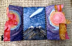 Handpainted Hopi Book - Blue Comet and the San Francisco Peaks - Last Page