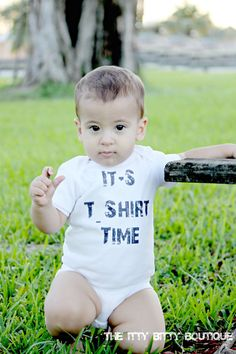 It's TShirt Time  Funny Baby Onesie or Toddler by ShopTheIttyBitty, $16.00