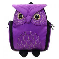 Cute Solid Color and Owl Shape Design Women's Satchel