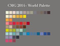 2014 Global Palette from the Color Marketing Group. #design