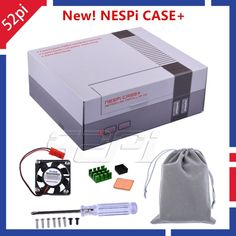 52Pi Original New Version NESPI Case+ Plus Retroflag Kit Functional POWER button with Safe Shutdown for Raspberry Pi 3 B+ /3/2B Review Projetos Raspberry Pi, Power Button, Original Version, Buttons, Kit, The Originals, Board, Accessories, Sign