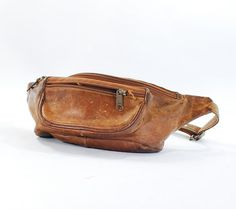 Vintage brown leather fanny pack