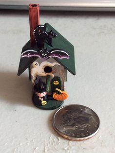 ARTISAN DOLLHOUSE MINIATURE KAREN MARKLAND HAUNTED HOUSE BIRDHOUSE