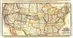 CPRR - UPRR  Timetable Map, 1881, Rand McNally, verso