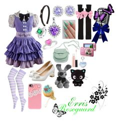 """Erris Roseguard(a song for Ciel) black butler"" by sasukeuchiha2498 ❤ liked on Polyvore featuring beauty, Bling Jewelry, Salvatore Ferragamo, Chanel, Ice, MM6 Maison Margiela, Clips, Retrò, MAC Cosmetics and Sony"