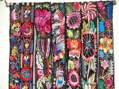 Embroidered belts from Chichicastenango Guatemala