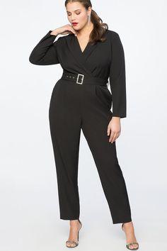 97ef2bbb335 Plus Size Black Jumpsuit - Plus Size Black Jumpsuits for Evening -. Plus  Size Sequin ...