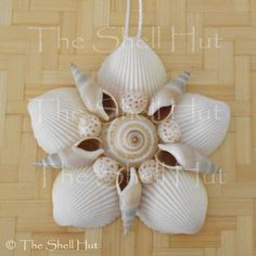 Beach Christmas Seashell Flower Shell Christmas Ornament Wall Hanging Tropical Beach House #1 #Handmade