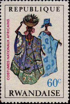 1968 Rwanda-Trajes Nacionales Africanos