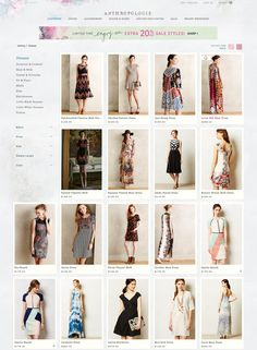 Anthropologie - Dresses - mix of lifestyle & studio model, mix of crops